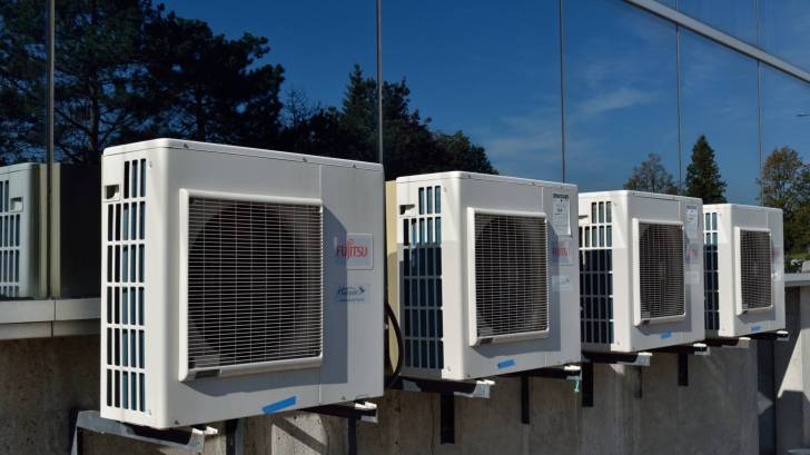 AC units on the roof of a building