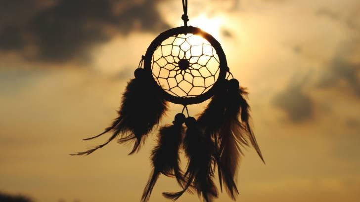 dream catcher in the evening sky