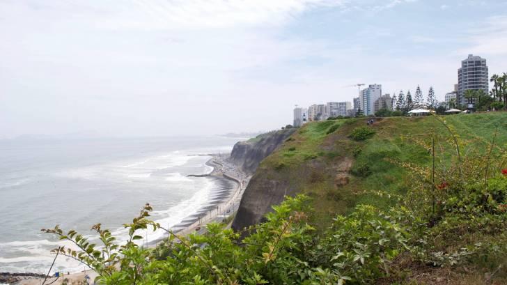lima peru from the coastline