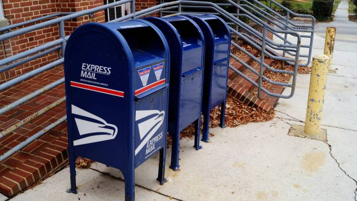 US Mail boxes to mail the home test