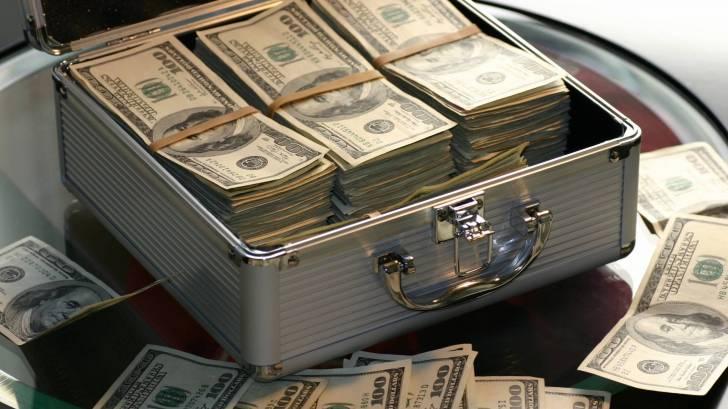 box full of money