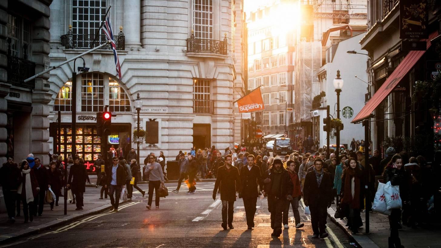 busy street pre covid