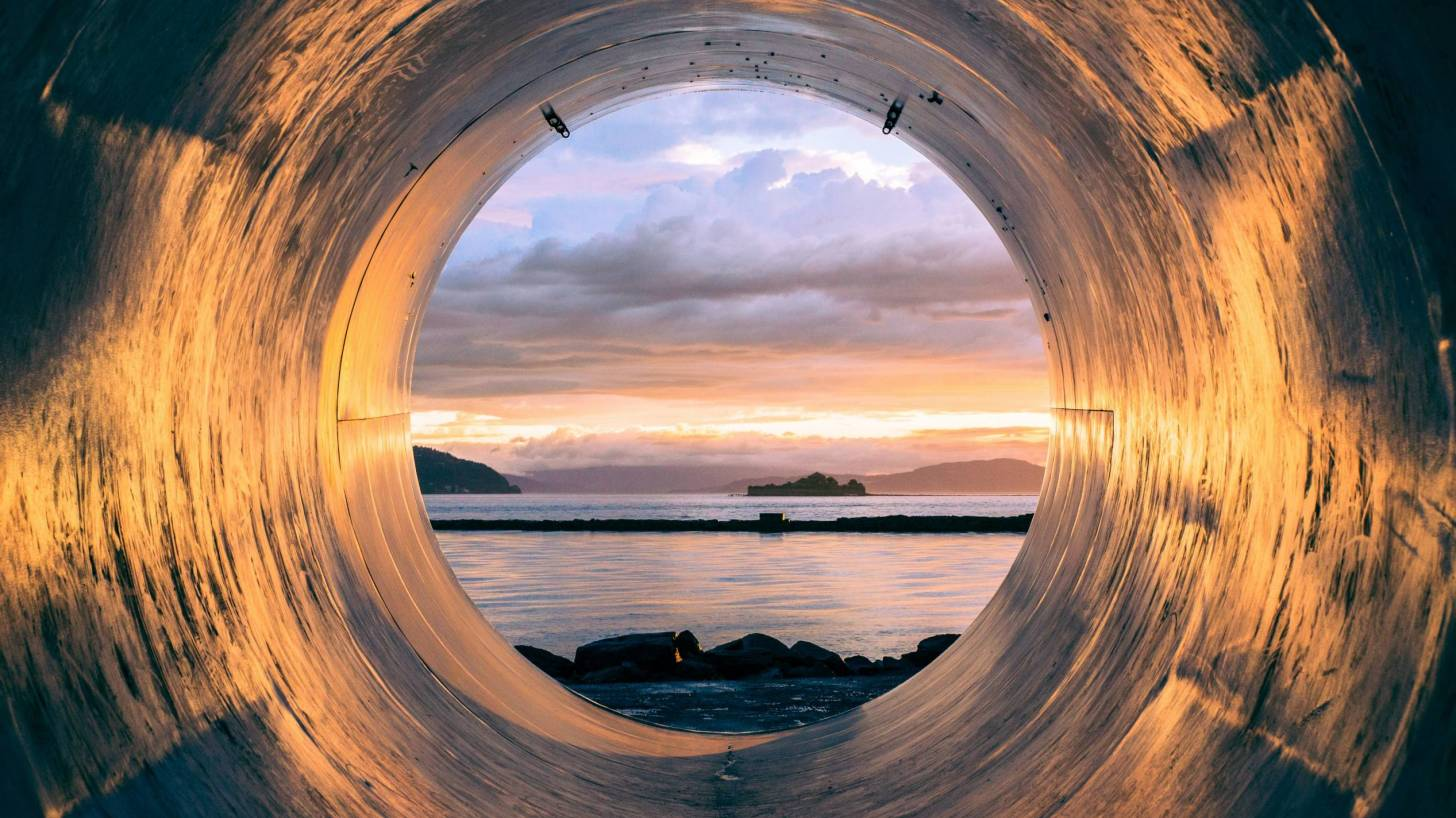 pipe looking into the sea