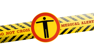 do not cross medical alert