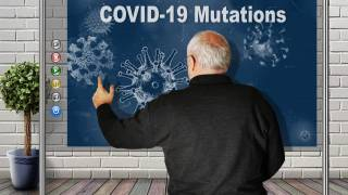 man at chalkboard explaining mutations