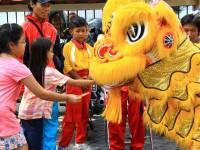 chinese children celebrating new years
