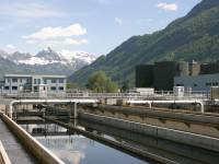 sewage treatment plant in swiss alps