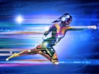 superhero running at fast speeds